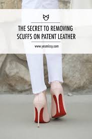 learn the secret to removing stubborn scuff marks on patent leather shoes