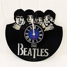 the beatles rock band wall clock made from 12 inches 30 cm vine vinyl record