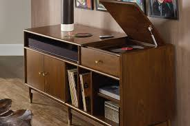 record player media console. Wonderful Console The Best Record Player Stands With Vinyl Storage To Keep Your Records  Organized With Media Console E