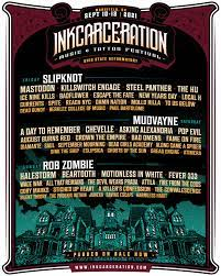 Midway opens at noon on friday. Slipknot Rob Zombie Mudvayne To Headline September S Inkcarceration Music Tattoo Festival