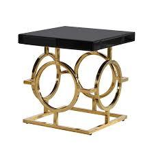 glass side table. The Mackintosh Gold \u0026 Black Glass Side Table