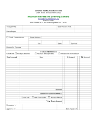 employee expense reimbursement form employee expense report format travel form template reimbursement