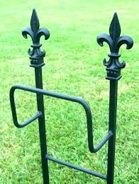 garden hose stand wrought iron holder free standing cross holds of