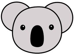 幼稚園児のイラスト絵カードコアラの顔のイラスト絵カード