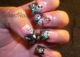 Nail Art Designs - My Halloween Acrylic Nails :3d Jack Skellington ...