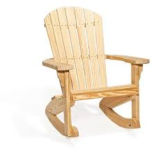 Amish Wood Fan Back Rocking Chair from DutchCrafters Amish Furniture