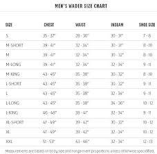 Wader Size Chart Foodfightapp