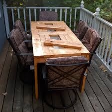 elegant how to build a patio table ana white patio table with built in beerwine coolers diy projects house decor concept