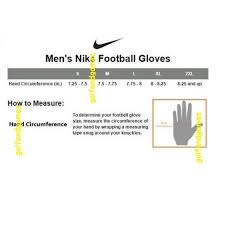 Youth Glove Size Chart Football Youth Football Gloves Size Chart