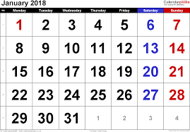 january 2018 calendar free calendar january 2018 uk bank holidays excel pdf word templates