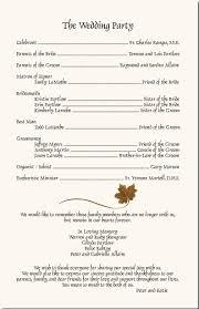 Fall Wedding Program-Autumn Theme Church Program-Fall Wedding Ideas ...