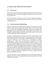 Statistics Project Report