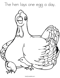 Small Picture The hen lays one egg a day Coloring Page Twisty Noodle