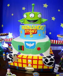Toy Story Birthday Cake For 5 Year Old In 4 Tiersjpg