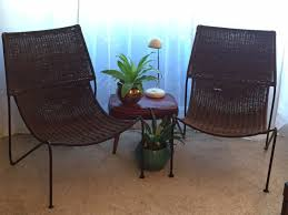 V Mid Century Modern Weinberg Style Pier 1 Mombasa Scoop Lounge Wicker Chairs