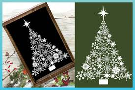 Christmas themed svg files for using with your electronic cutting machines, terms of use can be found within your downloads or by clicking here. Christmas Tree Svg Snowflake Christmas Tree With Star Svg 392612 Cut Files Design Bundles
