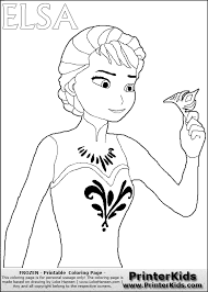 Small Picture Disney FROZEN Elsa Throwing Crown Coloring Page Crafts