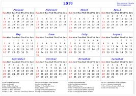 Calendar 2019 Printable With Holidays Gujarati Calendar 2019 Printable With Holidays Printable Coloring