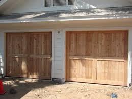 build our own wood garage door