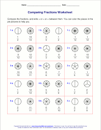 Fractions From Least To Greatest Chart Free Worksheets For Comparing Or Ordering Fractions