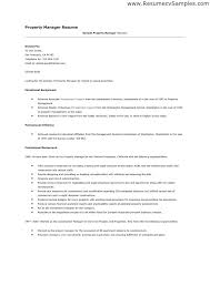 sample resume for apartment manager resume cover letter samples property manager adriangatton com