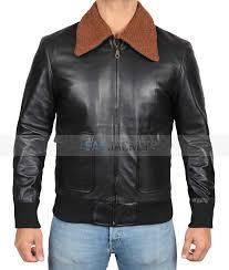stephen er black leather shearling jacket