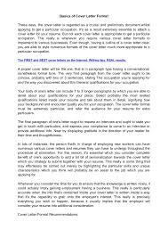 basics of cover letter format jpg cb  basics of cover letter formatthese days the cover letter is regarded as a crucial and