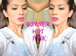 summer hot pink gold eyes makeup i beautyconfessionz
