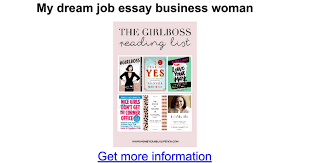 my dream job essay business w google docs