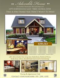 Microsoft Real Estate Flyer Templates Real Estate Flyer Template Microsoft Publisher Template