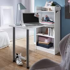 Finebuy Schreibtisch Regalkombination 4 Fächer Bürotisch