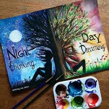 are you a night thinker of day dreamer by shining star draws follow artistic unity shared by art by fabian