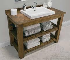 Cool Rustic Bathroom Vanity Plans Best With Modern Sink Inside