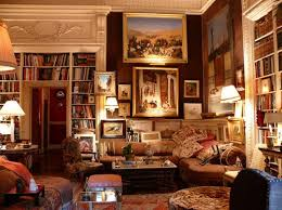 One room dedicated to books, but less cluttered with paintings and  furniture. Just one simple reading area/coffee table and the rest of the  room books.
