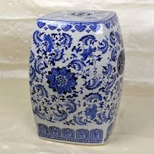chinese garden stool. Chinese Garden Stool Fresh 18 Square Porcelain With Floral And