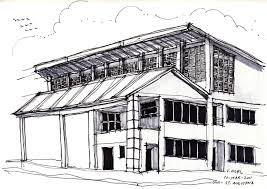 architectural building sketches. University Of The West Indies, Sac Building, Thinking Insomniac. Vernelle Noel Architectural Building Sketches