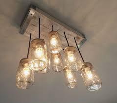 lighting mason jar ceiling lights light kit fan pendant chandelier bathroom fixture diy delectable to
