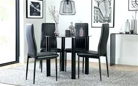circular dining table for 4 size dimensions decoration solar round black glass with chairs kitchen wonderful