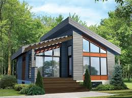 small modern house plans. Modern Vacation Home, 072H-0198 Small House Plans
