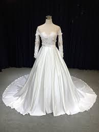 Latest Wedding Gown Designs Hot Item Latest Wedding Gown Designs Lace Long Sleeve Wedding Gown