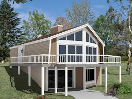 image of lake cabin plans with walkout basement house plans