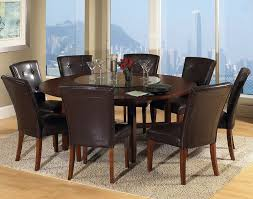 elegant brown round dining table for 8