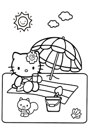 A beautiful picture full of hello kitty! Hello Kitty Coloring Pages Overview With A Lot Of Kitties