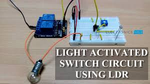 Automatic Light Operated Switch Using Ldr And Ic 741 Light Activated Switch Circuit Using Ldr Sensor