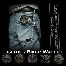 wild hearts leather biker wallet skull hand carved leather genuine cowhide stingray handcrafted custom handmade