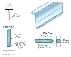 frameless shower door seal 8 diffe