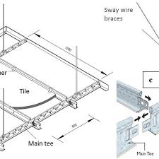 a typical suspended ceiling ponents