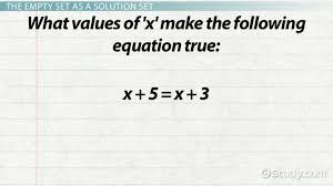the empty set in math definition symbol lesson transcript study com