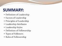 military leadership leadership