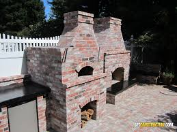 5 wide 8 tall wood fired orangevale pizza oven features a 32 cooking surface coupled with a custom outdoor fireplace and orangevale outdoor kitchen